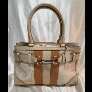 Coach Hampton optic signature carryall